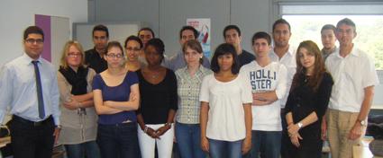 Promotion 2012 du double cursus Ingénieur-Entrepreneur lors de leur rentrée en 2010