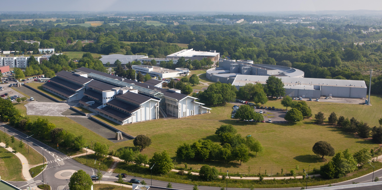 Vue aérienne du site de la Chantrerie à Nantes