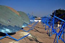 Concentrateur solaire à Tinytech, Inde