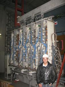 Visite de la fonderie d'Arcelor Mittal