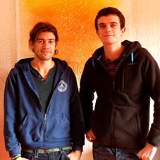 Arnaud Cretot et Robin Deloof, étudiants à Polytech Nantes et Polytech Tours