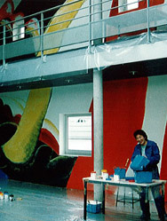 Fresque dans le bâtiment Isitem
