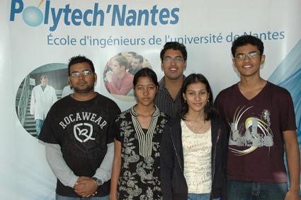 5 étudiants indiens accueillis à Polytech'Nantes