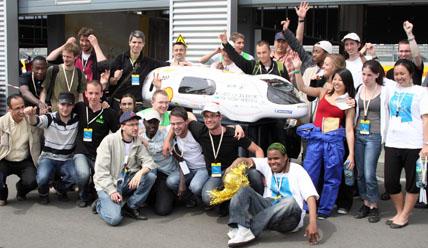 Polyjoule lors du Shell Eco Marathon 2009